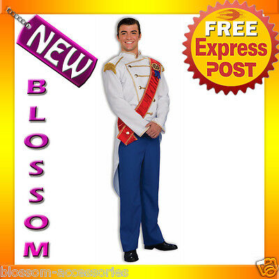 Prince Charming Outfit Adults (C413 Mens Prince Charming Outfit Adult Halloween Fancy Dress Costume)