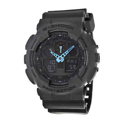 Casio G Shock Grey Digital Dial Resin Men's Watch GA100C-8ACR