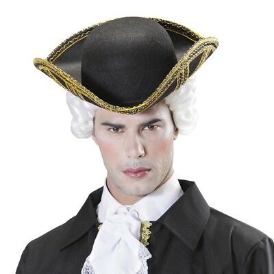EDELMANN DREISPITZ HUT # Karneval Venezianische Barock Rokoko Kostüm Party (Venezianischer Edelmann Kostüm)