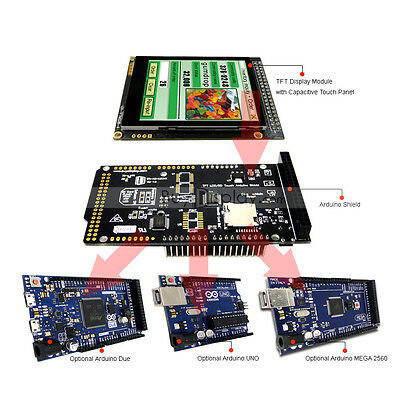 2.8inch Tft Lcd Capacitive Touch Shield For Arduino Duemega 2560uno Wlibrary
