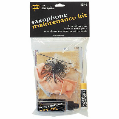 Herco HE108 Saxophone Care Kit - Contains Swab, Key Oil, Cork Grease and More