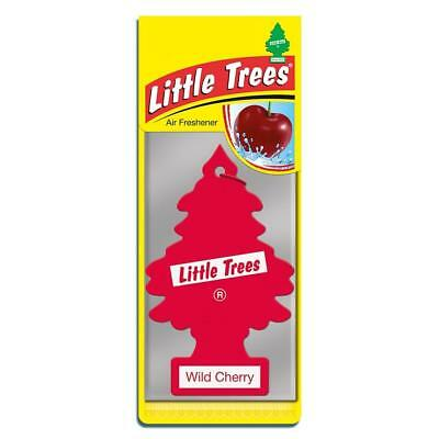 4 x Little Magic Tree Car Air Freshener WILD CHERRY Freshner 2D ()
