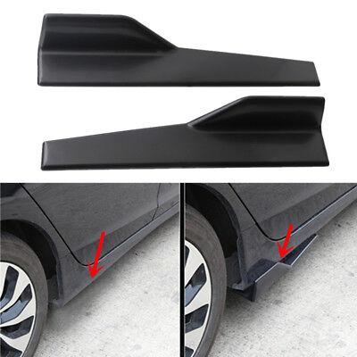 2x Schwarz ABS Kfz Auto Splitter Unterboden Seitenschürze Flügel Universal 45cm