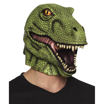 LATEX T-REX SAURIER MASKE Sauriermaske Echse Tyrannosaurus Gag Kostüm Deko 00156