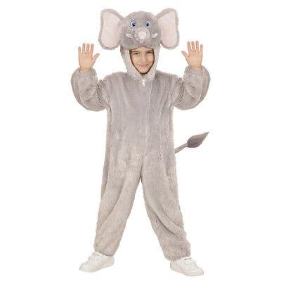 ELEFANTEN PLÜSCH KOSTÜM Karneval Kinder Tier Zoo Wildtier Plüschkostüm 104 9810 (Kinder Elefanten Kostüme)