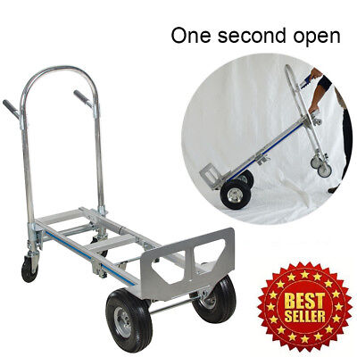 Hand Sack Truck Barow Cart Wheel Trolley With 2 Wheel Dolly And 4 Wheel Cart
