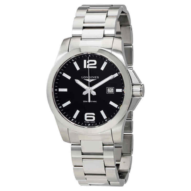 Longines-Conquest-Black-Dial-Stainless-Steel-Men-43mm-Watch-L37604566