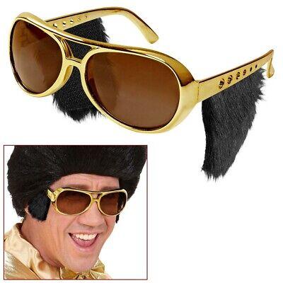 RILLE KOTELETTEN 60er 70er Jahre Rockstar Kostüm Brille 6733 (Rock Star Sonnenbrille)