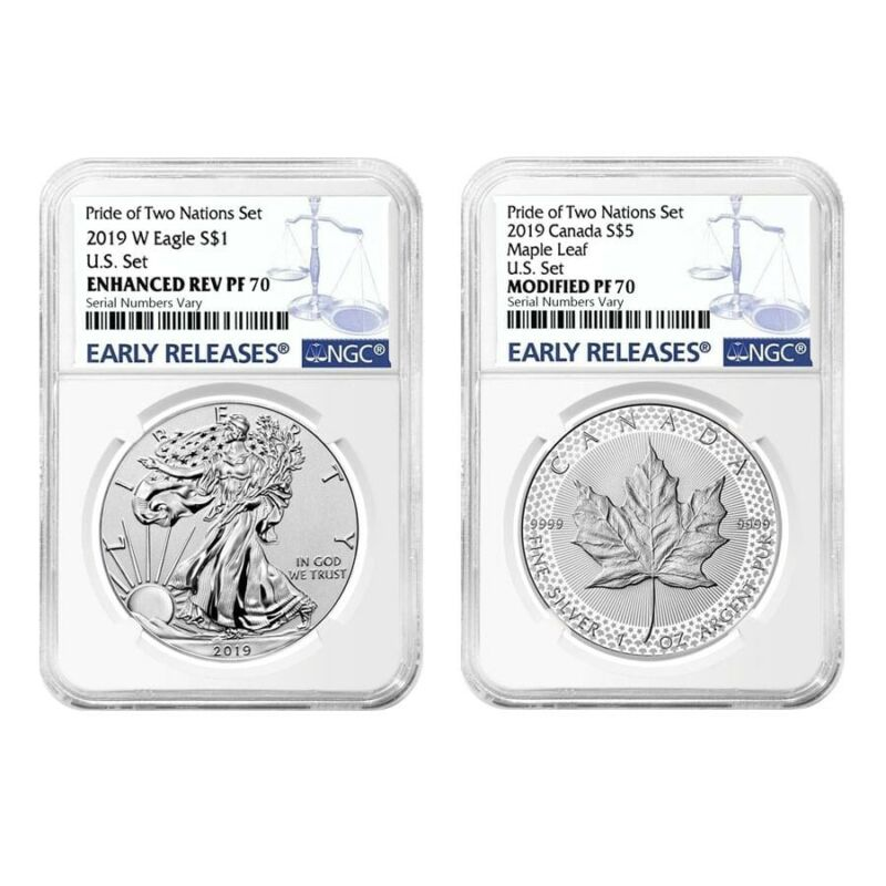 2019 Pride of Two Nations 2-Coin Set NGC PF 70 ER