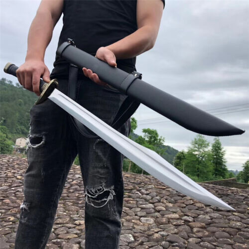 Outdoor Battle Ready Broadsword Sword Very Sharp High Manganese Steel Blade Dao