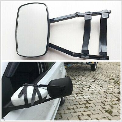Adjustable Trailer Truck SUV RV Towing Mirror Wing Clip-on Extender Universal X1