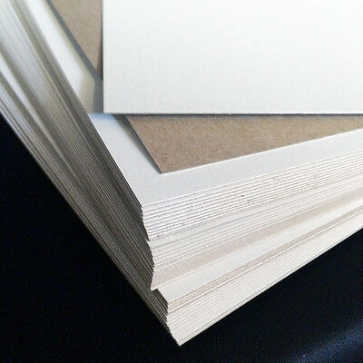 "22 pt Chipboard - pack of 50 - white on one side 8.5x11"" sheets 0.022 scrapbook"