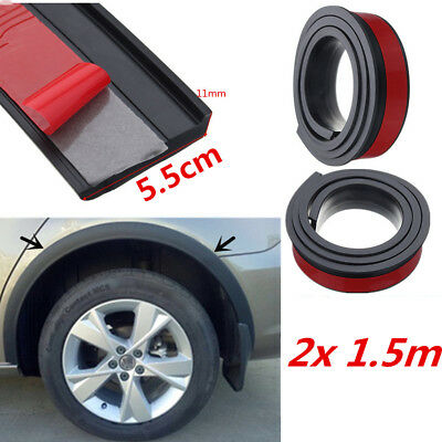 55mm Car Wheel Fender Extension Flares Arch Protector Rubber Moulding Retrofit for sale  Shipping to Canada