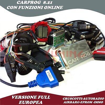 CARPROG V 8.21 FULL ONLINE RESTORATION AIRBAG DASHBOARDS KM CAR RADIO SCODIFICHE