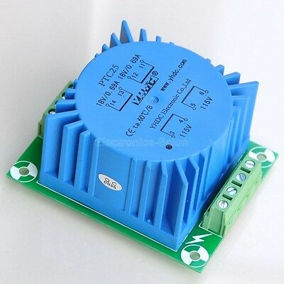 1pcs Toroidal Power Transformer 25va Output 2x18v Input 115v Or 230v .