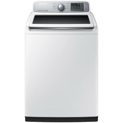 Samsung 5.0 Cu. Ft. 11-Cycle High-Efficiency Top-Loading Washer White WA50M7450AW