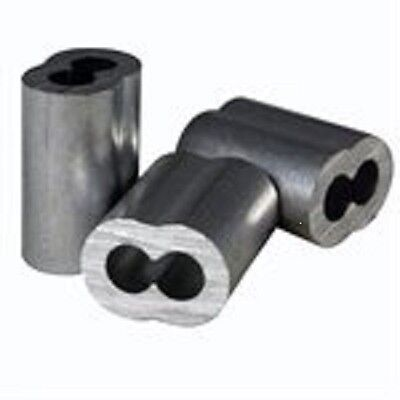 Aluminum Swage Sleeves For 516 Wire Rope Cable 10 25 50 And 100 Pcs