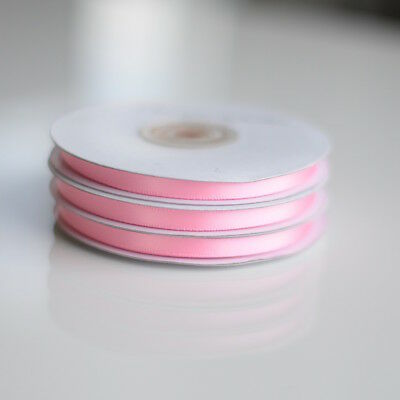 Light pink double sided satin ribbon roll - 25m Light Pink Double Sided Satin