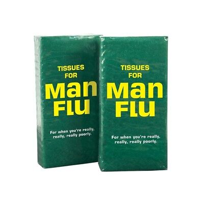 Man Flu Tissues When Your Mans Poorly Funny Novelty Men's Stocking Filler Gift