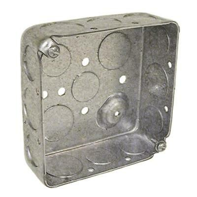 2-gang Metal Interior New Old Work Standard Square Ceiling Wall Electrical Box