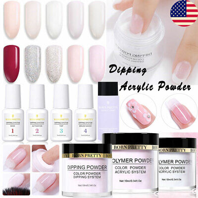 Acrylic Dipping Powder French Natural Nail Powder System Liquid DIY BORN PRETTY