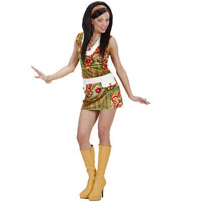 DAMEN HIPPIEKOSTÜM # Karneval 60er 70er Jahre Flower Power Hippie Kostüm Kleid