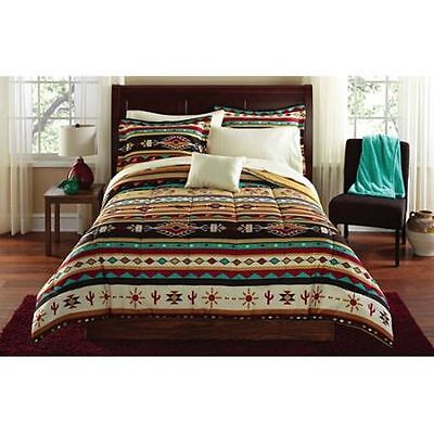 Comforter Bedding Set Full Bed in a Bag Sheets Native American Southwest 8 pcs