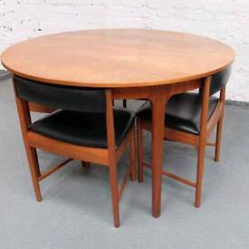 Mcintosh of Kirkcaldy Teak dining table and chairs