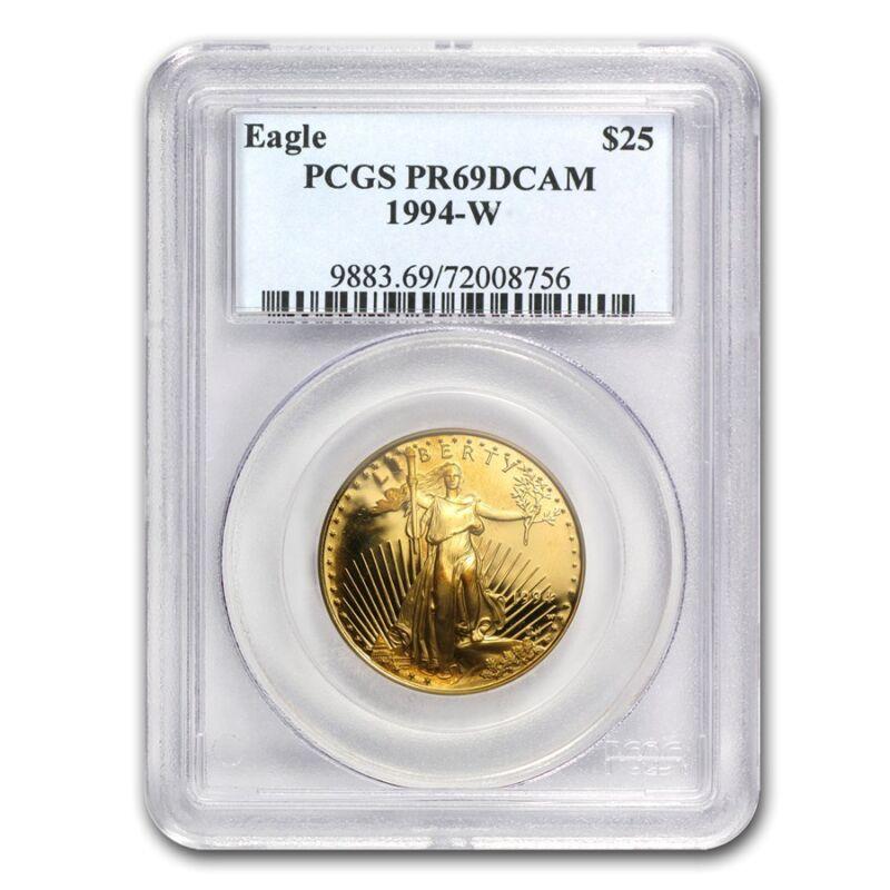 1/2 Oz Proof Gold American Eagle Pr-69 Pcgs (random Year) - Sku #83512