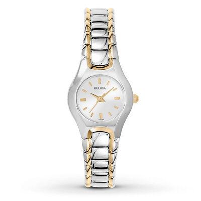 Bulova Women's Two Tone Bracelet Watch 98T84
