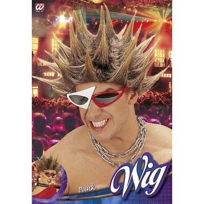 PUNKER PERÜCKE Karneval Fasching Rockstar Rocker Punkerin Punk Kostüm Party - Punk Rocker Kostüm Perücke