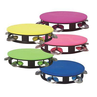 Neon Tambourines (12 Pack) Party Tambourine Noisemakers 1 Dozen - Neon Tambourine
