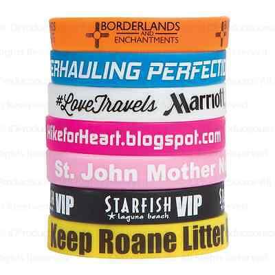 Personalized Wristbands (100 Silicone Silkscreened Wristbands  Personalized for Teams, Campaigns, &)