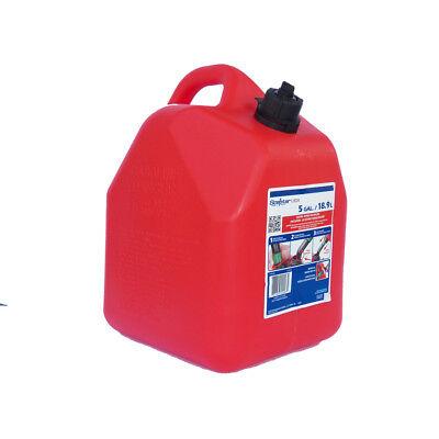 5-gallon Plastic Gasoline Can Red Gas Diesel Kerosene 2 Cycle Fuel Mower Lawn