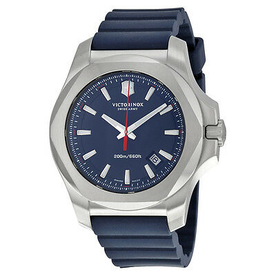 Victorinox Swiss Army Inox Blue Dial Blue Rubber Mens Watch 241688.1