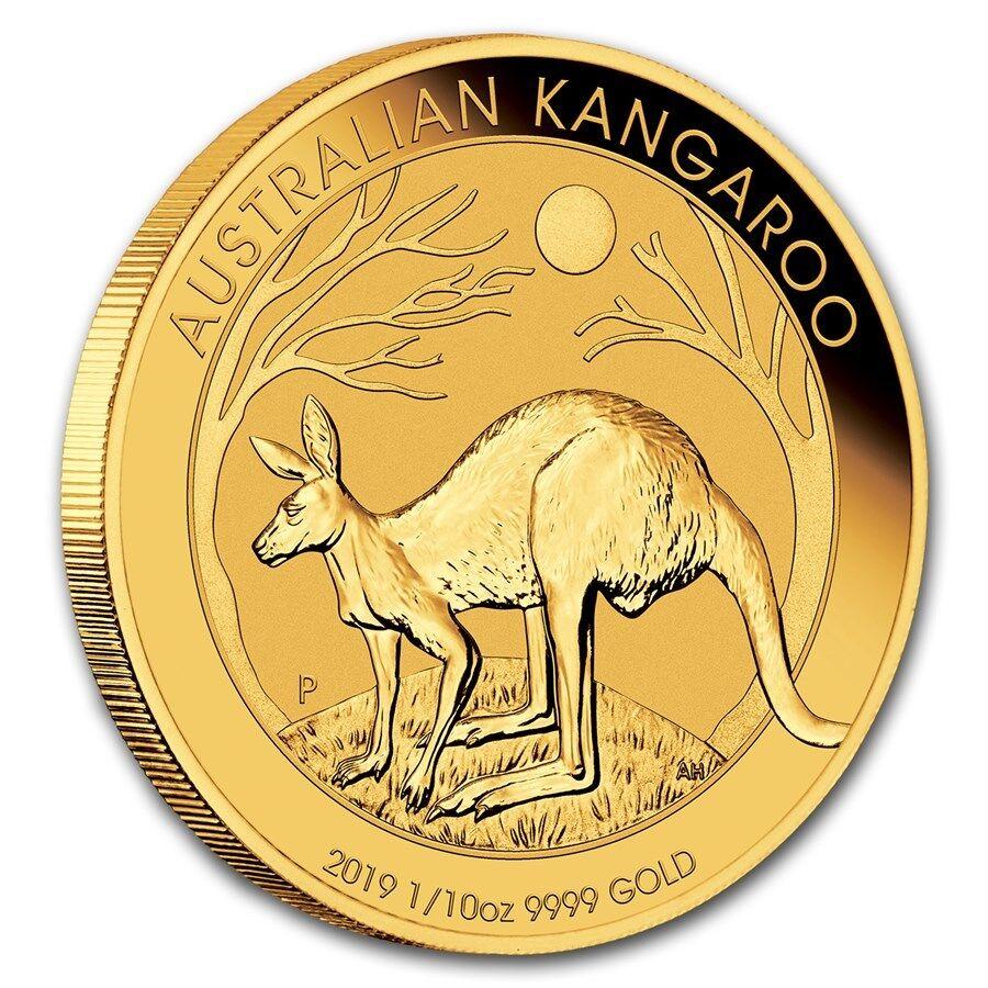 1/10 oz Gold Känguru 2019 - 15 Dollar Australien Stempelglanz Goldmünze 999,9