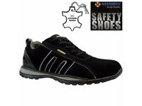 *MEN SAFETY TRAINERS SHOES BOOTS WORK STEEL TOE CAP HIKER ANKLE SIZE 7 NEW