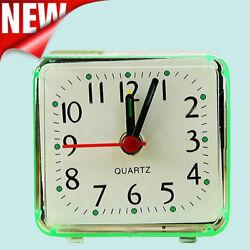 Cute Creat Square Small Bed Compact Travel Quartz Beep Alarm Clock Cute Portable