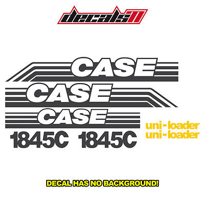 Case 1845c Skid Steer 1845 C Set Vinyl Decal Sticker Aftermarket