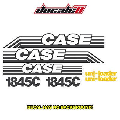 Case 1845c Skid Steer 1845 C Set Vinyl Decal Sticker Aftermarket