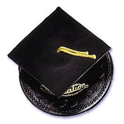 Graduation Cap Decoration Kit (Black Graduation Cap Hat Cake Topper Kit Cupcake Candy Cookie)