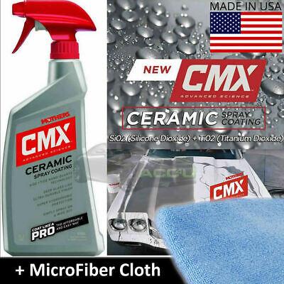 Mothers CMX Car Paint CERAMIC SPRAY Nano Coat Coating Protection Sealant + Cloth