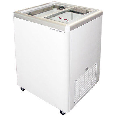 Commercial Flat Lid Display Freezer Wsliding Glass Euro-5
