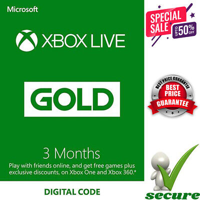 3-Month GOLD XBOX LIVE MEMBERSHIP XBOX 360 GLOBAL KEY REGION FREE *FAST DELIVERY