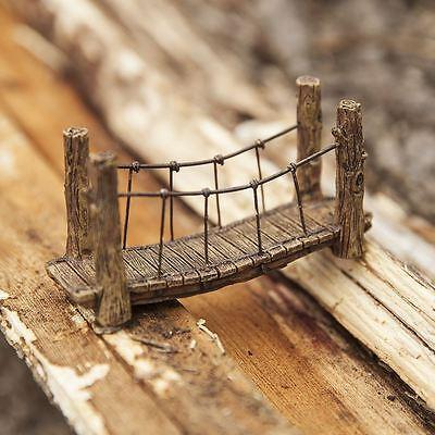 Fiddlehead Fairy Woodland Suspension Bridge Garden Ornament