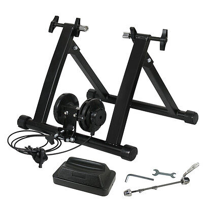 New Indoor Exercise Bike Bicycle Trainer Stand W/ 8 Levels Resistance Stationary