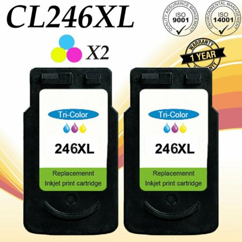 4 Pack PG-245XL Black /& CL-246XL Color Ink for Canon PIXMA MG2924 MG2420 MX490