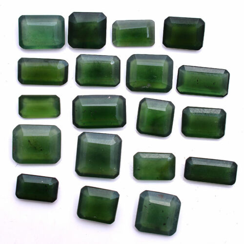 87.00 Cts Natural Serpentine Untreated 10mm-16mm Lot Faceted Cut Loose Gemstones