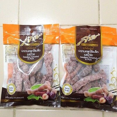 Thailand Fruit Seedless Tamarind with Plum Snack Delicious Driving Camping 2 pcs