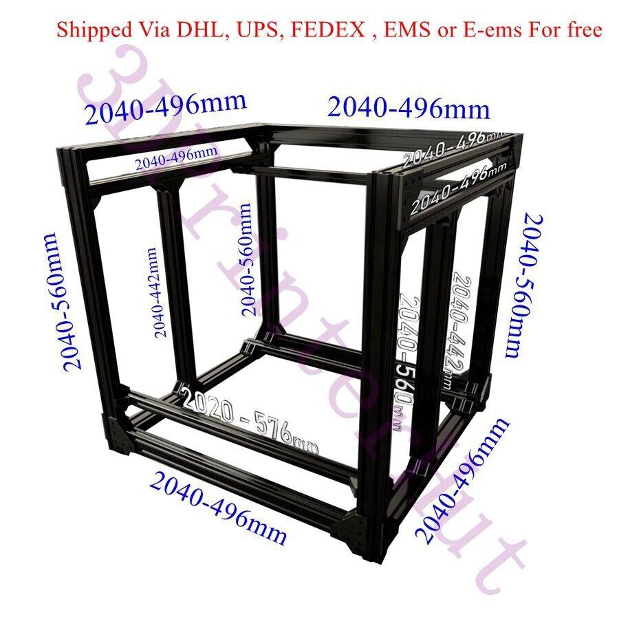Black BLV mgn Cube Frame kit & Hardware Kit For DIY CR10 3D